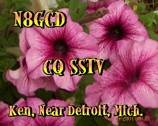 One of my many general calling cards used in making SSTV contacts.